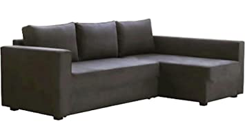 Amazon.com: The Dark Gray Manstad Cover Replacement Is Custom Made For Ikea  Manstad Sofa Bed, Or Sectional, Or Corner Slipcover. (Left Arm Is Longer):  Home ...