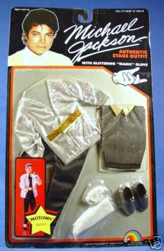 Michael Jackson 1984 Motown Doll Stage OUTFIT - OUTFIT ONLY (Michael Jackson Billie Jean Outfit)