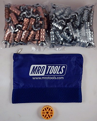 50 1/8 & 50 3/32 Standard Wing-Nut Cleco Fastener w HBHT Tool & Bag (KWN4S100-3) by MRO Tools Cleco Fasteners