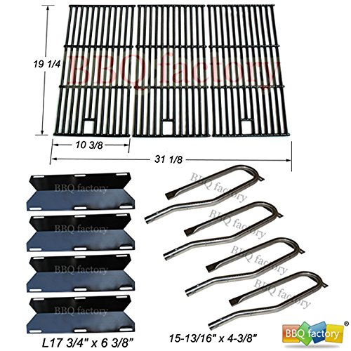 bbq-factory-jenn-air-gas-grill-720-0337-replacement-burners-porcelain-steel-heat-plates-grill-grid-g