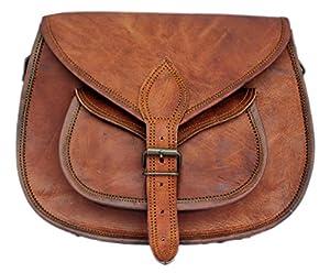 Rustic Town Brown Genuine Leather Crossbody Bag Tote Ladies Purse Handbag
