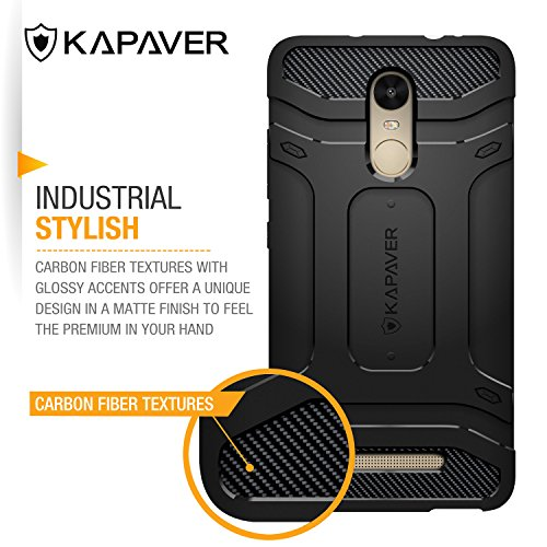 online store 314f8 8062d KAPAVER Redmi Note 3 Back Cover Case Tough Rugged Solid Black Shock Proof  Slim Armor Case for Xiaomi Redmi Note 3