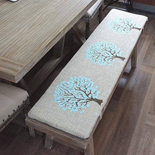 GDZFY Verdicken Schwamm Bankauflage,Terrasse Bank Settee Kissen,Nachhaltige Outdoor Rechteck Matte,Baumwoll-leinen Long Chair Pad Braun 30x120x3cm