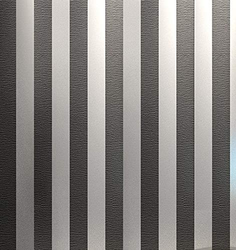 Luxton Metallic Charcoal Gray Striped Wallpaper (Unpasted) roll, 20.8 inch x 32.8 feet, 1 Roll Pack ()
