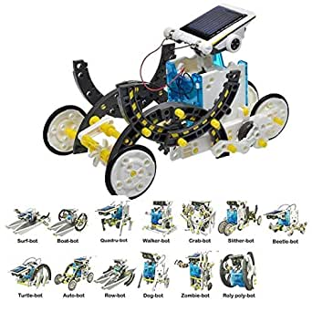 CHENTYTECH 13 in 1 Solar Robot DIY Solar Robot Kit Educational Solar Robot Build Your Own Robot for Kids