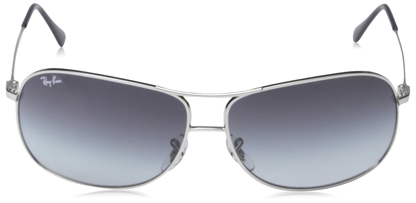 d55eb250f6 Ray-Ban Men s Gradient Aviator RB3267-003 8G-64 Silver Aviator Sunglasses   Ray-Ban  Amazon.ca  Sports   Outdoors