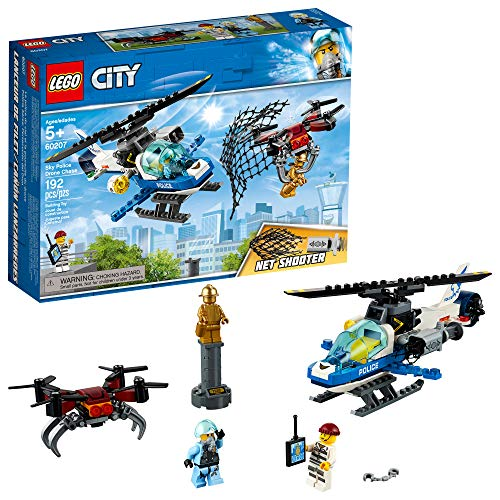 LEGO City Sky Police Drone Chase 60207 Building Kit , New 2019 (192 Piece)