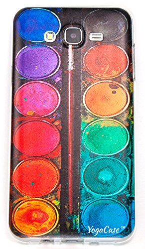 Samsung Galaxy J7 Case, YogaCase InTrends Back Protective Cover (Colorful Life Watercolor...