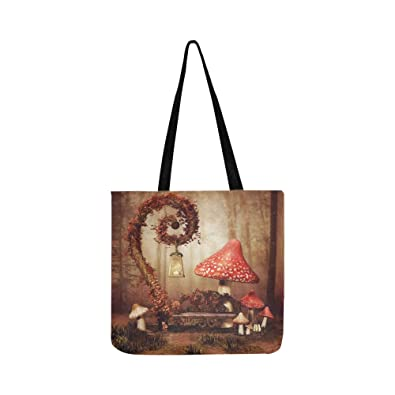 9a049584 Amazon.com: Autumnal Fairytale Scenery Bench Lamp Big Stock Illustration  Canvas Tote Handbag Shoulder Bag Crossbody Bags Purses For Men And Women  Shopping ...