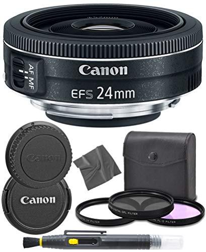 CanonEF-S 24mm f/2.8 STM: (9522B002) Lens + AOM Pro Starter Kit Bundle - International Version (1 Year AOM Warranty)