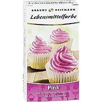 Brauns Heitmann Lebensmittelfarbe in Pink 2118 - Farbpulver frei von AZO-Farbstoffen -Lebensmittelfarbpulver zum Verzieren von Backwaren, Füllungen, Cremes, Desserts - geschmacksneutraler Naturfarbstoff