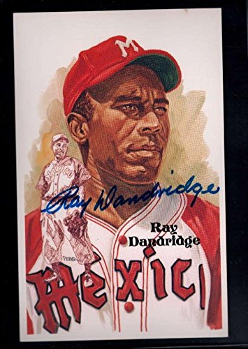 1987 Perez Steele #197 Ray Dandridge Authentic On Card Autograph Signature Au658 - Baseball Slabbed Autographed Rookie Cards
