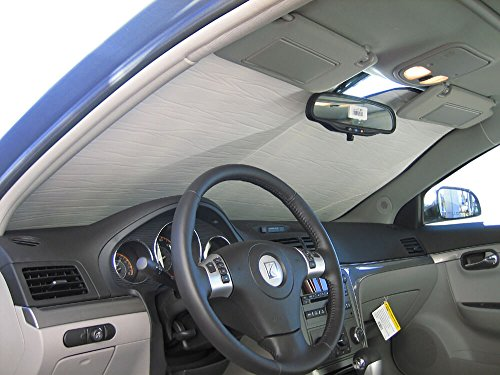 The Original Windshield Sun Shade, Custom-Fit for Saturn Aura Sedan 2007, 2008, 2009, 2010, Silver -