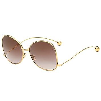 Amazon.com: GHCX Moda Gafas de sol Bolas Lentes Metal ...