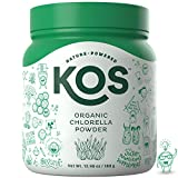 KOS Organic Chlorella Powder | Non-Irradited, Neutral Tasting Chlorella Powder | USDA Organic, Natural Digestive Enzyme, Plant Based Ingredient, 368g, 92 Servings