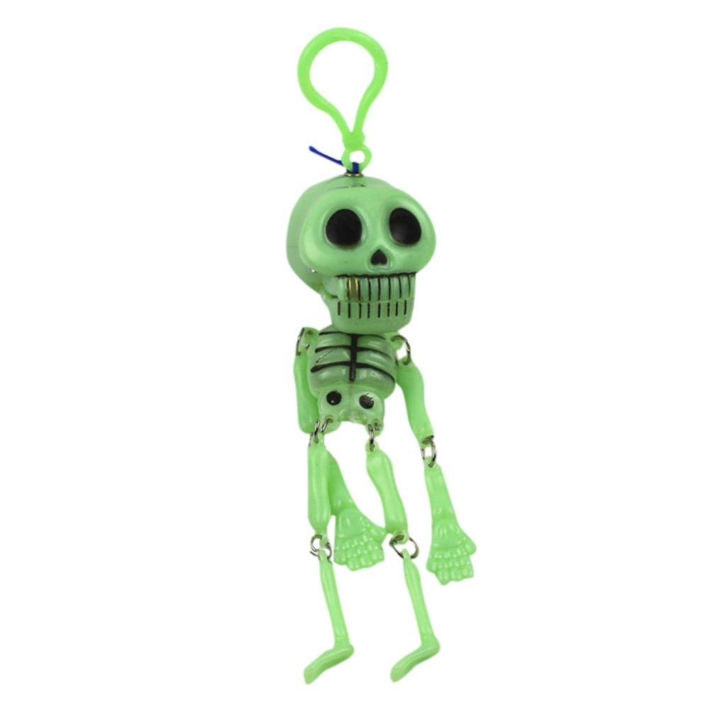 HP95(TM) Halloween Decorations Children's Toys Will Move The night Light Small Skeleton Shelf Key Chain Pull Pull Ghost Promotions (A)