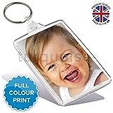 Personalised Custom Photo Gift Keyring Key Fob 70 x 45 mm | Large Size