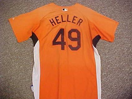 94b434b55 Daniel Heller Baltimore Orioles Orange Spring Training Jersey at ...
