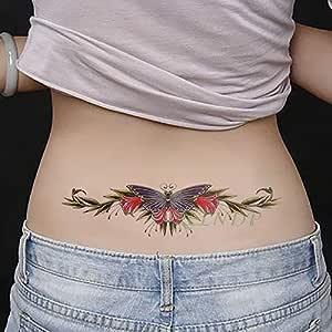 Yyoutop Impermeable e Etiqueta engomada del Tatuaje Raya Código de ...