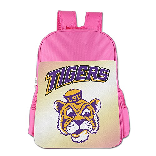 [ElishaJ Boys/Girls Louisiana State University Children School Bagpack For 4-15 Years Old Pink] (Lsu Mascot Costume)