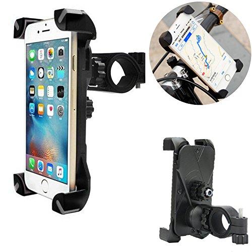 Universal Bike Phone Halterung für Prospekt GPS. Fahrrad Lenker & Motorrad Handy Wiege verstellbar, um jedes Smart Handy (iPhone, Galaxy, Nokia, Motorola...), Rosa Füße von coscod