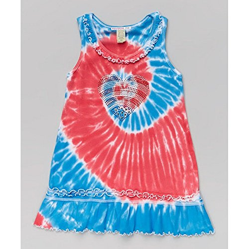 Studded Ruffle (Patriotic Studded Heart Ruffle Short Sleeve Toddler Girl Dress)