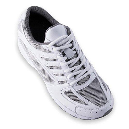 Scarpe con Rialzo da Uomo Che Aumentano l'Altezza Fino a 7 cm. Fabbricate in Pelle. Modello Siena Bianco