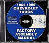 STEP-BY-STEP 1958 CHEVY & GMC PICKUP TRUCK FACTORY ASSEMBLY INSTRUCTION MANUAL CD-ROM - COVERS: C10, C20, C30, C1500, C2500, C3500, K5, K10, K20, K30, K1500, K2500, K3500, stakebed, Suburban, full-size Blazer, full-size Jimmy CHEVROLET 58