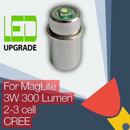 Maglite LED Conversión Bombilla/Upgrade para Maglite–Linterna/2d/2C/3C Cell CREE XP-G2CNC