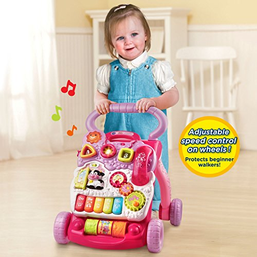 516dEJwblDL - VTech Sit-to-Stand Learning Walker Amazon Exclusive, Pink