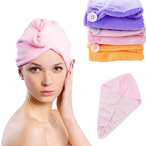 HP95(TM)Super Fast absorbing water dry hair Ponytail Holder Cap towel(Random color)