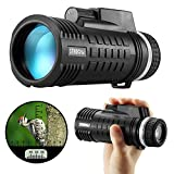 Sendowtek Monocular Telescope with Compass, Ranging Waterproof Monocular Scope BAK-4 Prism 8x42 High Power Scope Golf/Wildlife Sight-Viewing/NFL/Hunting Accessories