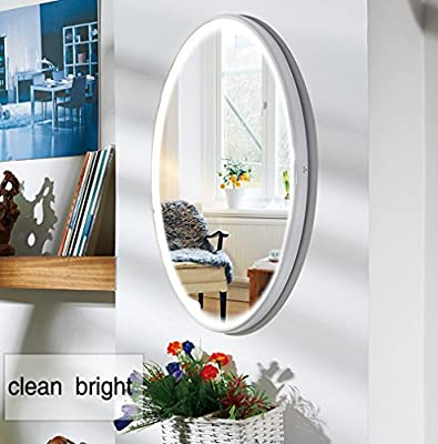 LED Wall Mirror, NANAMI Vanity Lighted Mirror for Bedroom with 2 Dimmer Modes by Touch Sensor