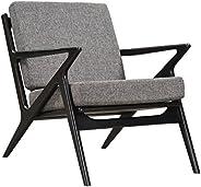 NyeKoncept Cloud Gray Zain Chair, Black