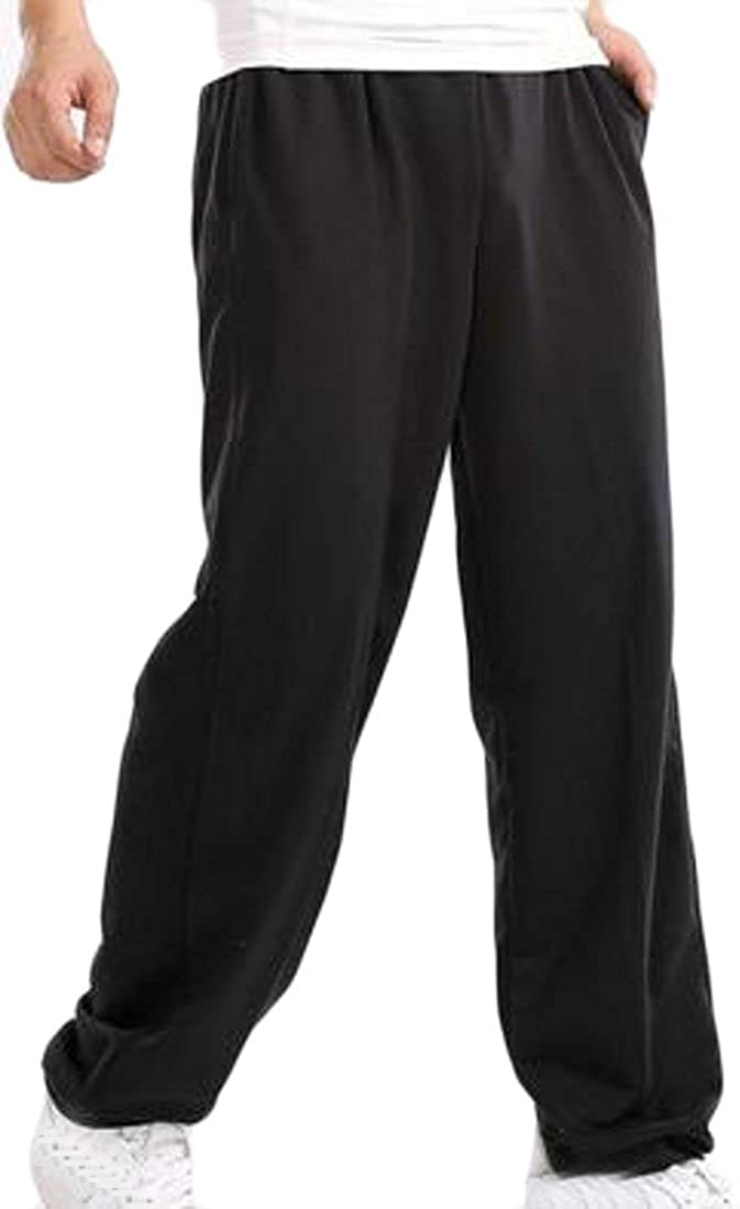 Fulok Mens Athletic Sweatpants Plus Size Elastic Wasit Soft Basketball Pants Black 6XL