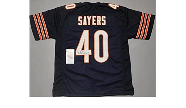 93d550df5e7 Gale Sayers Autographed Jersey - w COA - JSA Certified - Autographed NFL  Jerseys at Amazon's Sports Collectibles Store