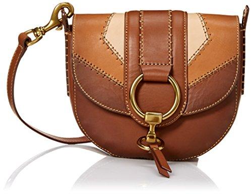 Leather FRYE Multi Cognac Crossbody Saddle Ilana Block Color Bag wwvqB