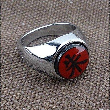 QINF Naruto Akatsuki Itachi Uchiha Suzaku Silver Cosplay Ring