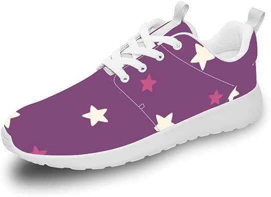 Mesllings Zapatillas de Running Unisex con diseño de Estrellas, Color Rosa: Amazon.es: Zapatos y complementos