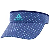 adidas Women's Match Visor, Mystery Blue/Lab Green Crushed Dots Print, One Size
