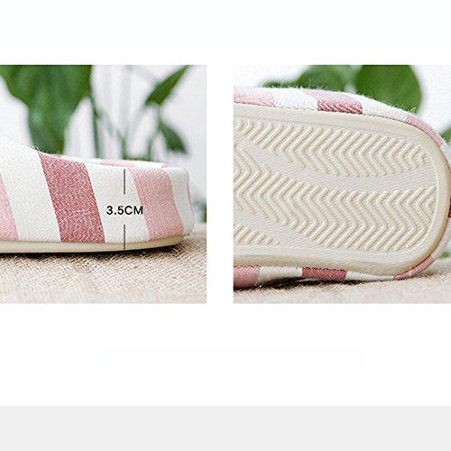 Pantofole Fondo Laminato In Morbido Da Per Molla Con Autun A Haizhen Cotone Antiscivolo D'estate E Femmina Donna Biancheria Scarpe La Casa STxBwOwnq