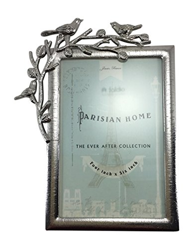 Branch Picture Frame (Birds on Branch Picture Frame Glossy Silver by Parisian Home 4 x)