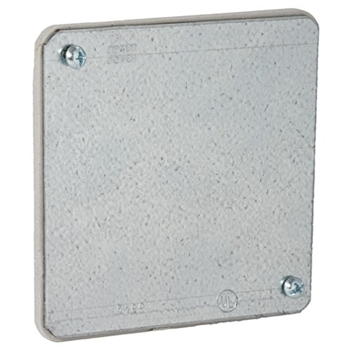 (Hubbell-Raco 762 2-Gang 4-Inch Square Flat Plenum Cover)