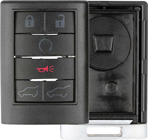 KeylessOption Keyless Entry Remote Key Fob Shell Case Button Pad Cover For Cadillac Escalade, EXT, ESV