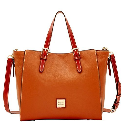 Handbags Designer Dooney (Dooney & Bourke Pebble Grain Large Mindy Bag (Caramel))