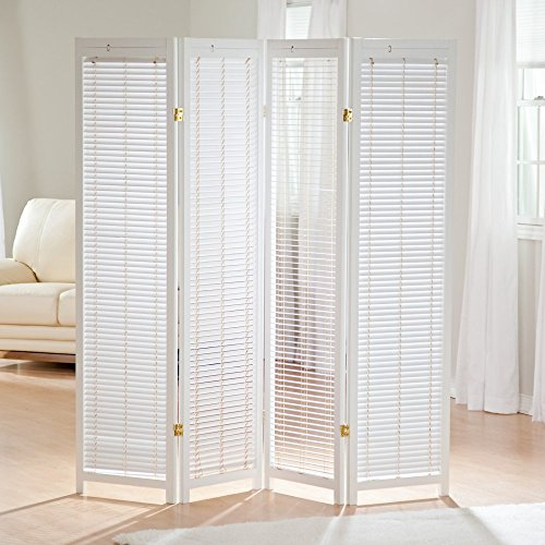 Finley Home Tranquility Wooden Shutter Room Divider ()
