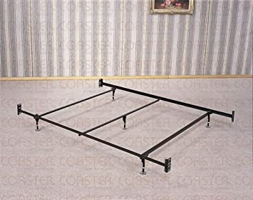 coaster bed frame rail for headboard and footboard with 5 legs and glides