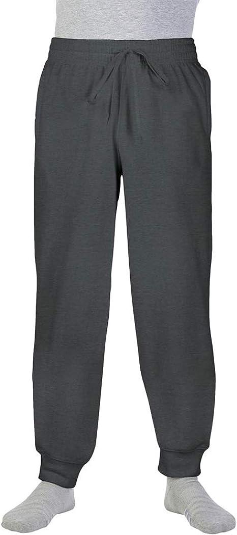 Gildan - Pantalones de chandal gruesos con puño Modelo Jogging ...