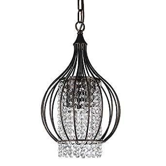 antique bronze metal bell shade crystal chandelier pendant. Black Bedroom Furniture Sets. Home Design Ideas