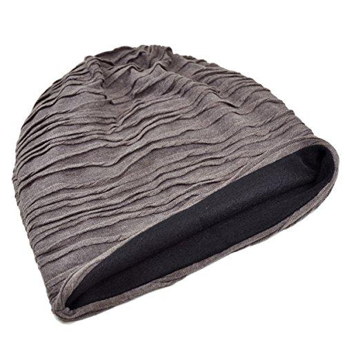 Dasein Unisex Slouchy Beanies For Women & Men Soft Stretch Daily Beanie Wrinkled Lightweight Skull Knit Hat Turban